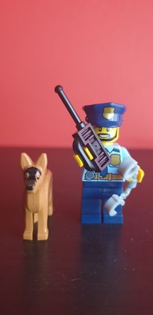 Minifigurka Lego Policjant + pies