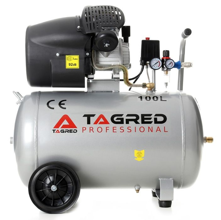 Kompresor sprężarka TAGRED 100L TA361 2T separator! DOSTAWA *
