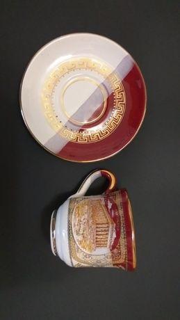 Набор винтажных кружек с позолотой hand made in greece 24k gold