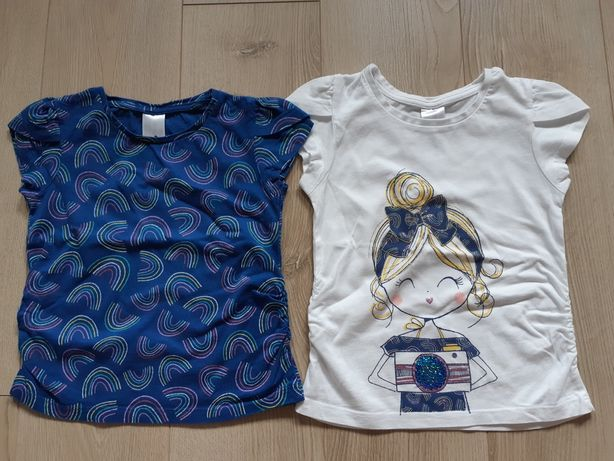 Koszulki z krótkim rękawem komplet dziewczęce C&A 104 cm