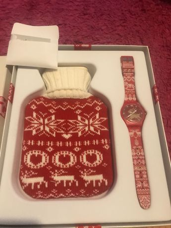 Relógio de coleção Swatch natal novo