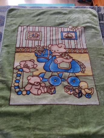 Cobertor para cama de bebé / criança- Como novo!