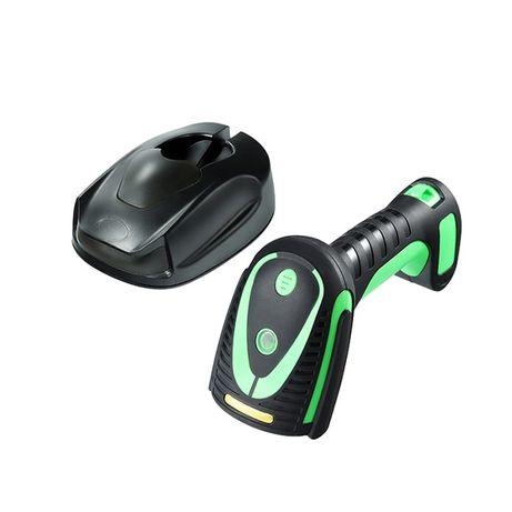 Лазерный сверхпрочный сканер 2D/1D штрих-кодов 2.4G+Bluetooth с базой