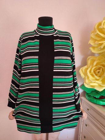 Большой размер 56-58 Платье, туника кофта гольф свитер