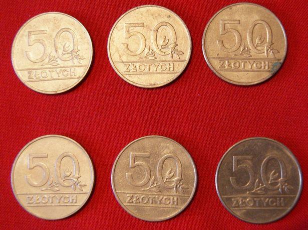 Moneta 50 zł złotych 1990 r zestaw