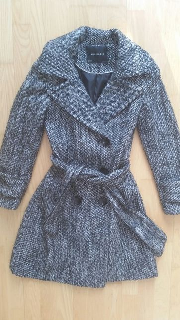 Śliczny płaszcz wełniany Zara S