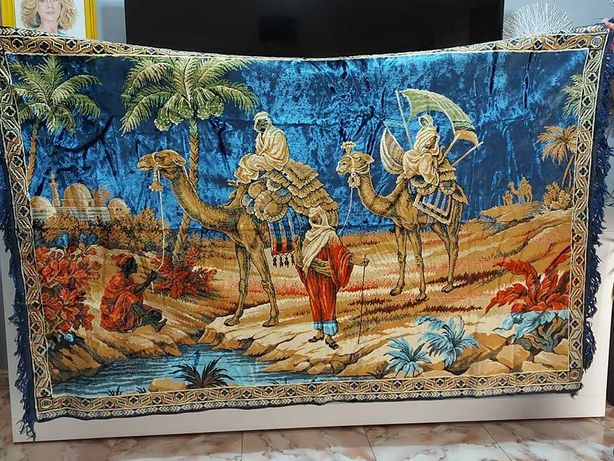 tapete africano reliquia veludo tapeçaria