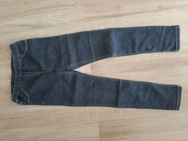 Spodnie Czarne leginsy jeans rozm 152/158