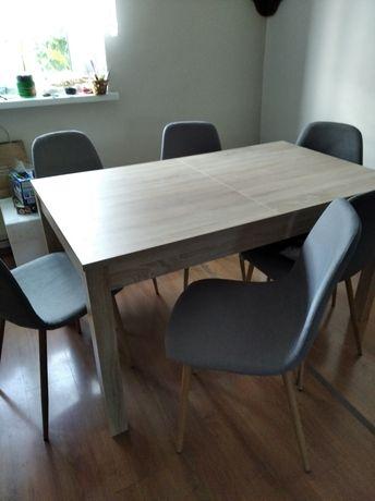 Stół kuchenny z krzesłami 6 szt komplet