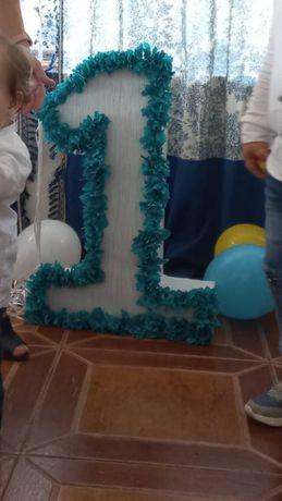 Цифра 1, одиничка, цифра 1 на день народження