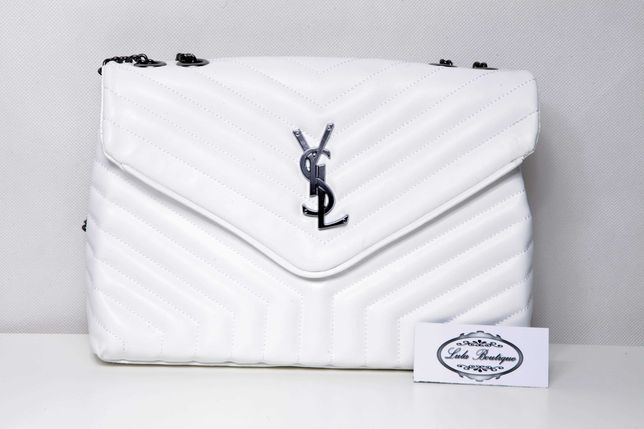 Biała pojemna torba torebka YSL. Premium