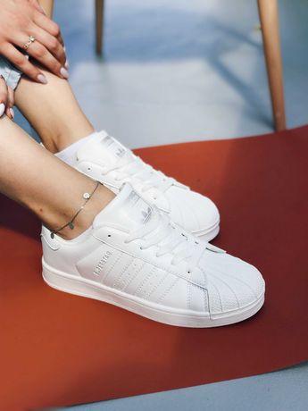 Кроссовки белые Adidas Superstar White Адідас Суперстар TOP!