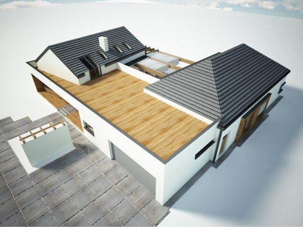 Wyjątkowy dom w stanie surowym 390 m2, działka 27 ar