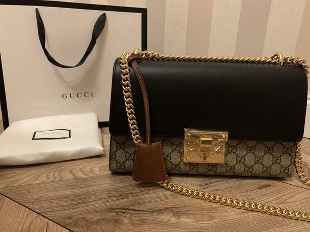Torebka Gucci Padlock Shoulder GG Supreme Medium Beige/Black