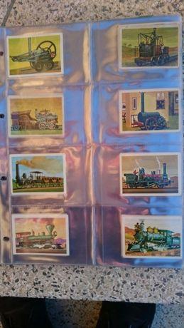 Colecção 170 cromos comboios pastilhas pirata anos 70