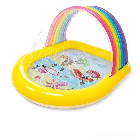 Детский надувной бассейн Intex 57156 «Радуга», 147х 130х 86см