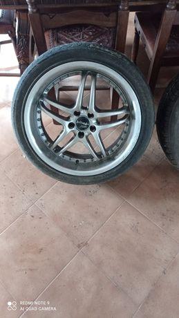 Jantes baracuda especiais com pneus semi novos .