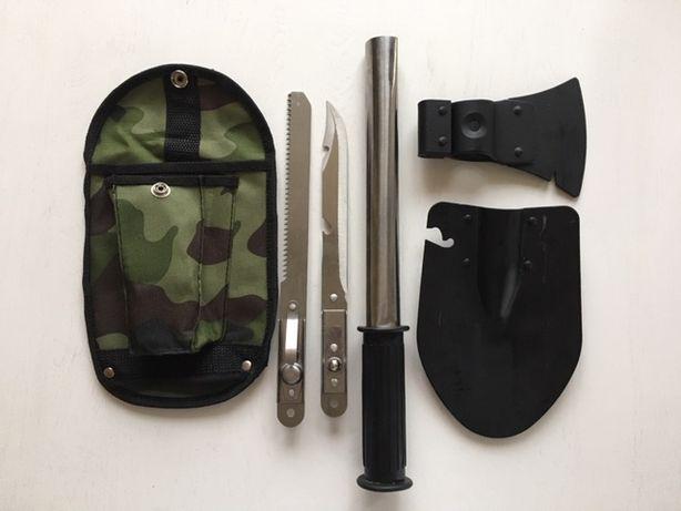 Походный туристический набор 4 в 1 Лопата, пила, штык, топор