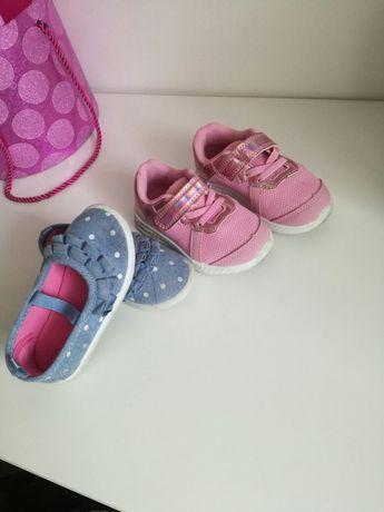 Cena za calosc buciki sandalki trampki roz 23 22