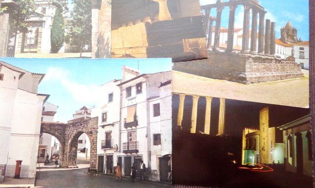 5 postais antigos de Évora