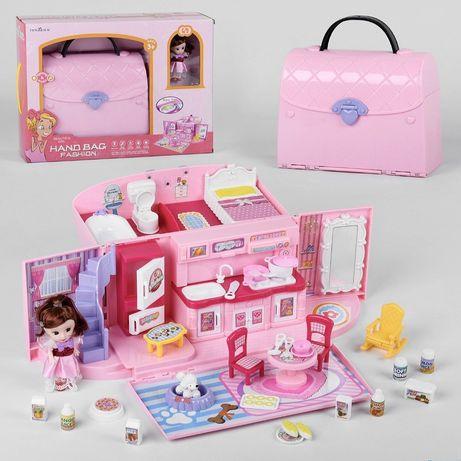 Дом в сумочке домик Лол сумка с мебелью и фигурками «Счастливая семья»
