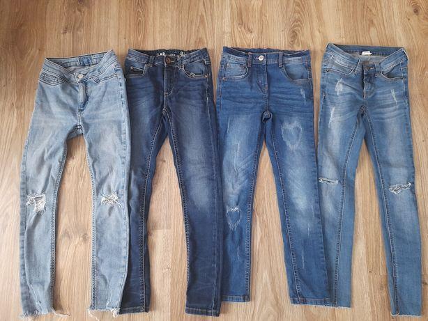 Zestaw spodni jeansowych 134 i 140