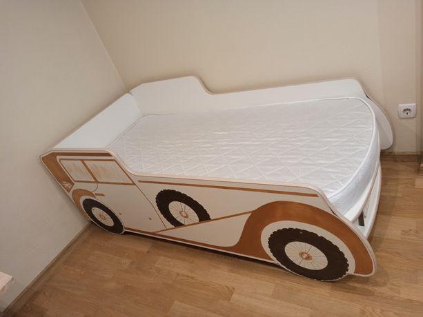Дитяче, підліткове ліжко-автомобіль ручної роботи