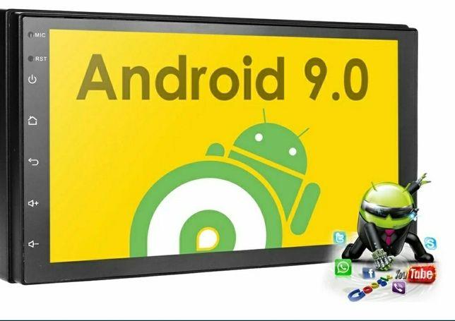 Rádio 2 Din android 9.1+RDS+GPS+kit mãos livres/câmera