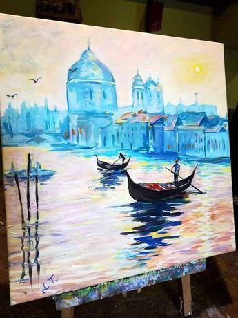 """Продам картину """"Венеция"""", холст, акрил."""