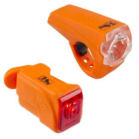 J116 Zestaw Lampek Rowerowych USB M-Wave LED