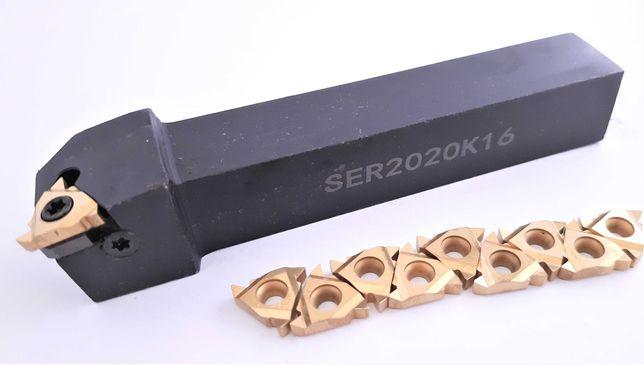 Nóż do gwintu SER 2020 H16 + 10 PŁYTEK 16ER AG60