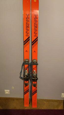 Narty skiturowe 160 cm, z wiązaniami. Hagan.