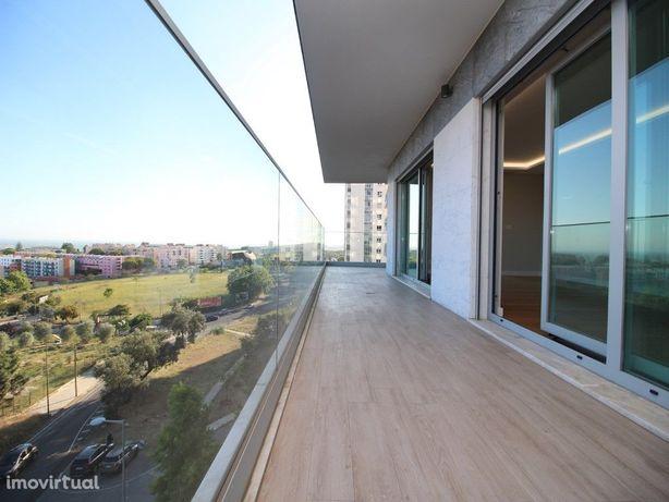 Apartamento T2, novo, no Restelo com 2 parqueamentos e va...