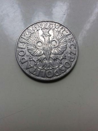 Стара Польська монета 50 GROSZY 1923 року