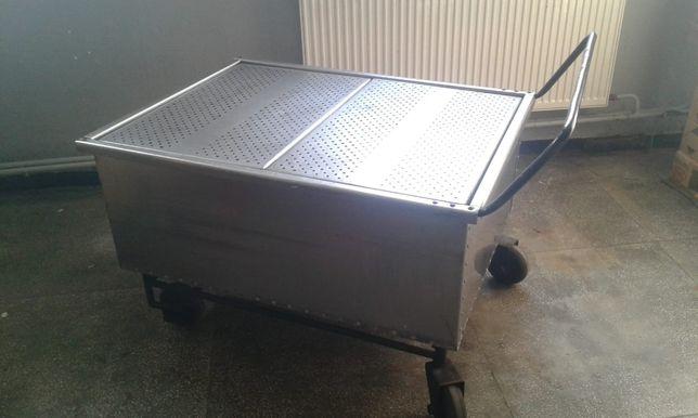 wózek transportowy ze stali nierdzewnej