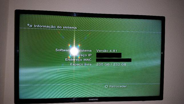 PS3 Slim com HD 250Gb Não Aceito Trocas