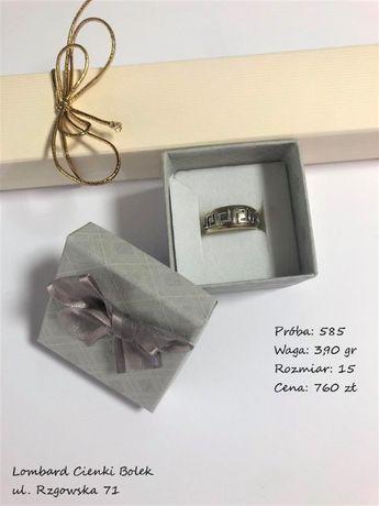Złoty pierścionek - 585/3,90g/rozm.15