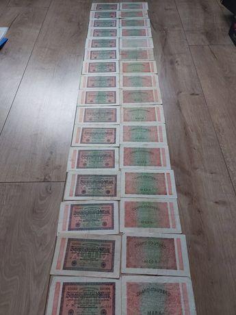 Kolekcja banknotów stare Niemcy rok wydania 1923