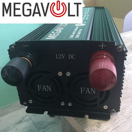 Преобразователь напряжения 12v 220v 7000W MEGAVOLT Мощный инвертор