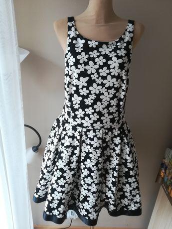 R. 40 unikatowa sukienka damska wesele komunia i nie tylko czarno bial