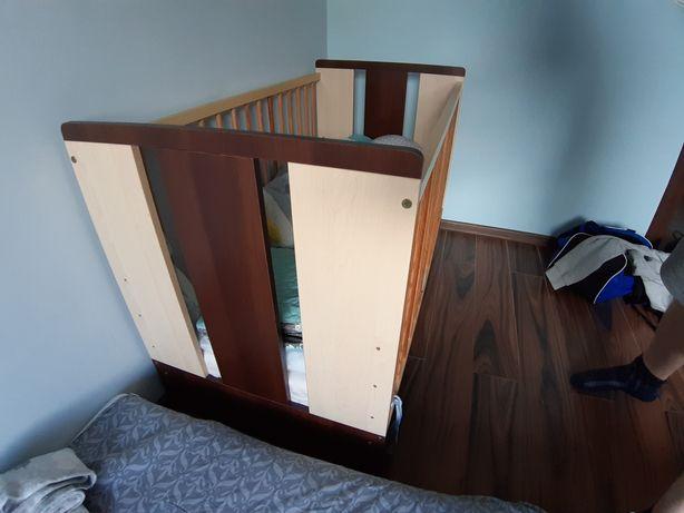 Łóżeczko dziecięce z szufladą 120x60 regulowane