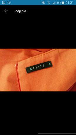 Spódnica Mohito 40 pomarańczowa bąbka