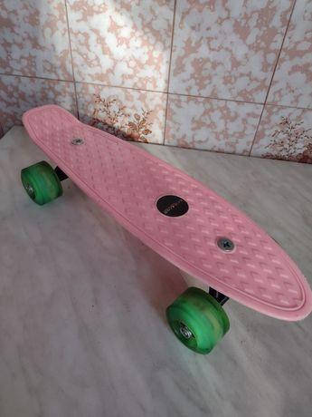 Пенни Борд Penny Board цвет жвачка Светящиеся колеса