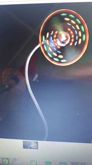 Wentylator Wiatraczek USB z diodami Led