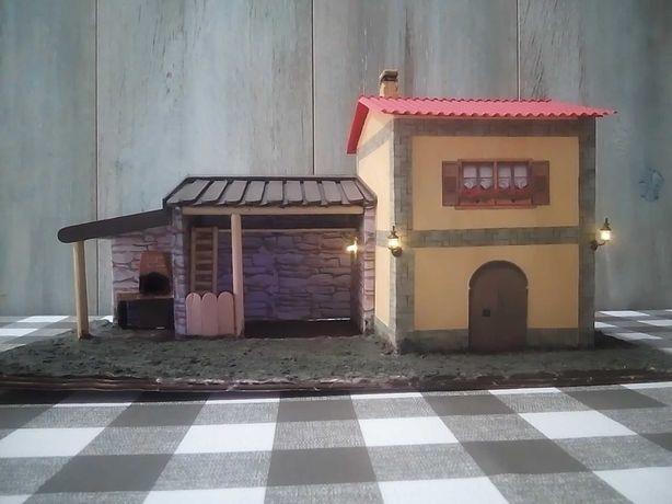 Casa/estábulo decoração presépio
