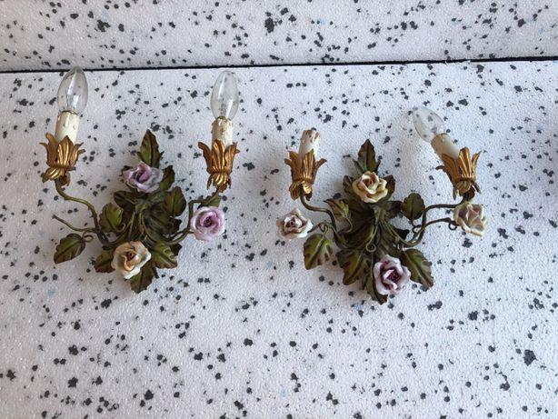 kinkiety kwiaty , komplet
