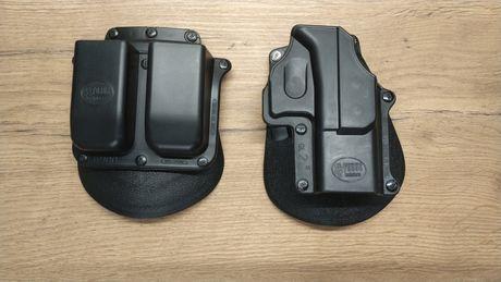 Kabura Fobus GL 2 + ładownica na dwa magazynki Glock 19