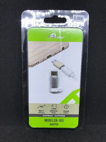Porta-chaves Adaptador Micro USB para Type-C - Novo
