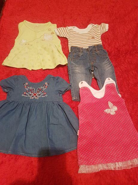 Wyprawka zestaw ubranek dla dziewczynki sukienka body