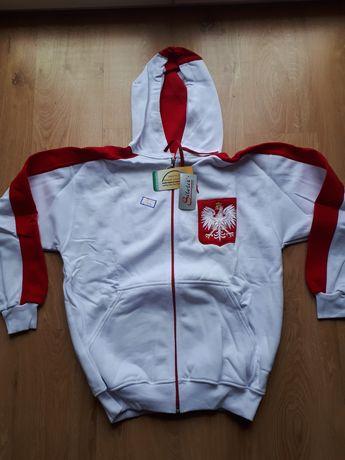 Bluza rozpinana z kapturem Polska rozmiar 170